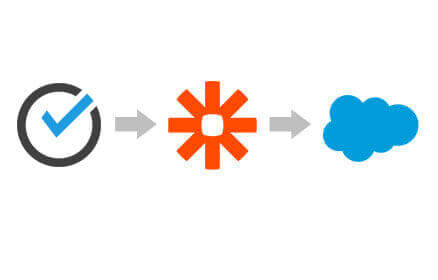 ScheduleOnce, Zapier and Salesforce Logos in a row