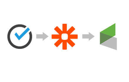ScheduleOnce, Zapier and Infusionsoft Logos in a row