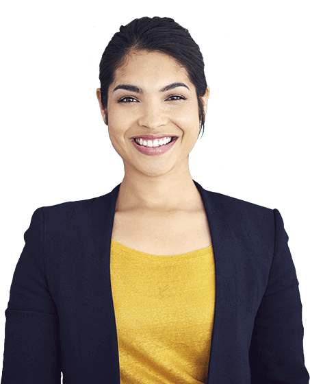 Smiling and confident business woman
